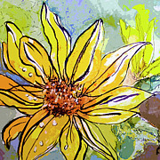 Sunflower Yellow Ribbon Print by Ginette Fine Art LLC Ginette Callaway