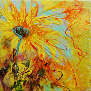 Floral Ceramics Metal Prints - Sunflowers 1 Metal Print by Madigan Lang