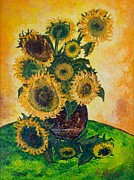 Jott Dgottoel Fine Art - Sunflowers #4G For...