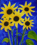 Lina Samat Kuchadiya - Sunflowers and Leaves