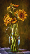 John Rivera - Sunflowers and Vase