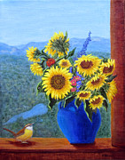 Fran Brooks - Sunflowers and Wren