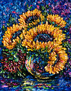 OLena Art - Sunflowers Bouquet in...