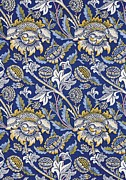 Blue Art Tapestries - Textiles Prints - Sunflowers design Print by William Morris