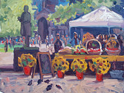 John Singleton Copley Paintings - Sunflowers for Sale by Dianne Panarelli Miller