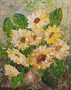 Cut Flowers Paintings - Sunflowers Forever by Joanne Smoley