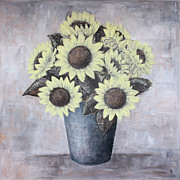 Home Art Metal Prints - Sunflowers Metal Print by Home Art