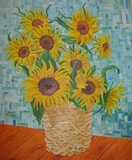 Nina Mitkova - Sunflowers in a basket.
