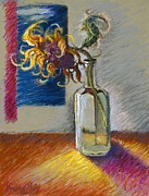 Flowers Pastels - Sunflowers in a Bottle by Ellen Dreibelbis