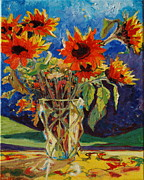 Thomas Bertram POOLE - Sunflowers in a Crystal...