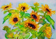 Joyous Paintings - Sunflowers in a Field by Janet Immordino