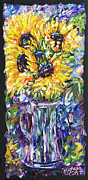 OLena Art - Sunflowers in a Vase