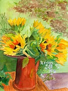 Lynne Reichhart - Sunflowers in Copper
