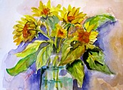 Delilah  Smith - Sunflowers in Water