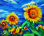 Sunflower Paintings - Sunflowers by Ivailo Nikolov