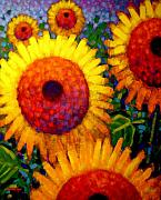 Vibrant Floral Art - Sunflowers by John  Nolan