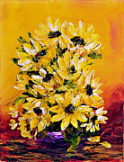 Canvas Paintings - SUNFLOWERS  no.3 by Teresa Wegrzyn