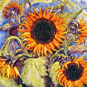 Lancaster Artist Metal Prints - Sunflowers Metal Print by Paris Wyatt Llanso