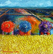 Rice Field Paintings - Sunflowers by Paul Hilario