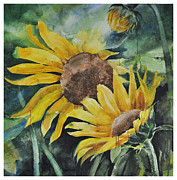 Santanu Maity Art - Sunflowers by Santanu Maity