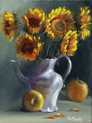 Life Paintings - Sunflowers by Viktoria K Majestic