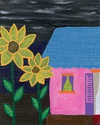 Fauna Originals - Sunflowers with home by Melissa Vijay Bharwani