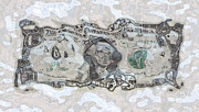 Debt Mixed Media Prints - Sunken Dollar Print by Georgios Kollidas