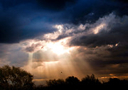 Heavy Weather Prints - Sunlight Bursting through the clouds Print by Nelieta Mishchenko