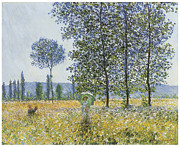 Summer Scene Framed Prints - Sunlight Effect under the Poplars Framed Print by Claude Monet