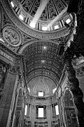 Religious Prints - Sunlight in St. Peters Print by Susan  Schmitz