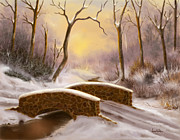 Sunset Scenes. Digital Art Framed Prints - Sunlight in Winter Framed Print by Sena Wilson