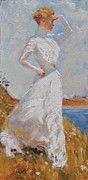 White Dress Painting Originals - Sunlight by Laura Lee Zanghetti