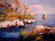 R W Goetting - Sunlight on Les Calanques