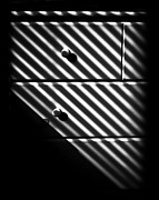 Drawers Digital Art Posters - Sunlight Through Blinds 1 Poster by Walt Foegelle