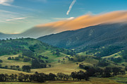 Sunlit Clouds On A Ridge Print by Marc Crumpler