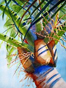 Island Paintings - Sunlit Palm by Carlin Blahnik