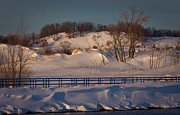 Snow Drifts Photos - Sunny and Snow by Daniel L Burlingame