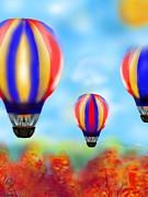 Sunny Balloon Ride Print by Christine Fournier