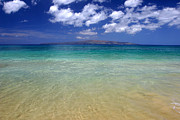Turquoise Metal Prints - Sunny Blue Beach Makena Maui Hawaii Metal Print by Pierre Leclerc