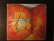 Orange Reliefs Originals - Sunny Butterflies Within by Joyce Fostini