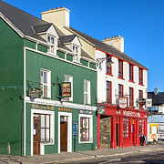 Irish Pubs Posters - Sunny Day in Dingle Ireland Poster by Mark E Tisdale