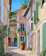 French Door Digital Art Prints - Sunny Lane Print by Jean-Marc Janiaczyk