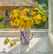 Flowers Painting Originals - Sunny May by Victoria Kharchenko