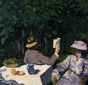 Fruit Bowl Paintings - Sunny Morning by Karoly Ferenczy