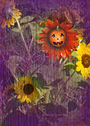 Lemke Digital Art Prints - Sunny Pumpkin Print by Audra D Lemke