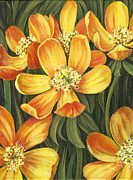Flower Center Paintings - Sunny Side by Natasha Denger