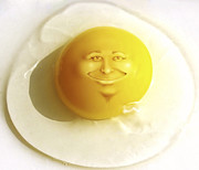Children Digital Art Digital Art Metal Prints - Sunny Side Up Metal Print by Diane Diederich