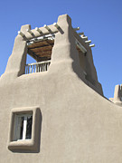Taos Prints - Sunny Southwest Adobe Print by Ann Powell