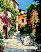 Vence Framed Prints - Sunny Walkway Framed Print by Michael Swanson