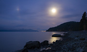 North Idaho Posters - Sunnyside Moon Poster by Idaho Scenic Images Linda Lantzy